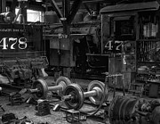 Gary Warnimont Metal Prints - Repair Shop for the Durrango and Silverton RR Metal Print by Gary Warnimont
