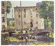 Spencer Prints - Repairing the Bridge Print by Robert Spencer