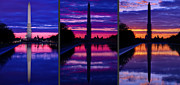 Washington D.c. Metal Prints - Repairing The Monument Triptych Metal Print by Metro DC Photography