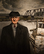 Railroad Paintings - Repairman by Mark Zelmer
