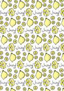 Repeat Prtin - Juicy Lemon Print by Susan Claire