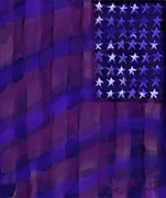 Us Capital Posters - Repersentational Flag 3 Poster by Eric  Schiabor