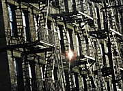 New York City Fire Escapes Photos - Repetitions by Sarah Loft