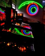 80s Metal Prints - Replicant Arcade Metal Print by Benjamin Yeager