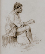Pensive Drawings - Repose by Derrick Higgins