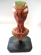 Featured Sculpture Prints - Reptilio Print by Emmanuel Rodriguez
