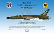Republic F-105g Thunderchief Print by Arthur Eggers