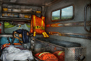  Quaint Prints - Rescue - Emergency Squad  Print by Mike Savad