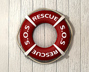 Rescue Lifebuoy Print by Allan Swart
