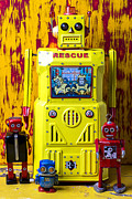 Toys Prints - Rescue Robot Print by Garry Gay