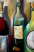 Wine Deco Art Drawings Posters - Reserve 13 Poster by Tom Fedro - Fidostudio