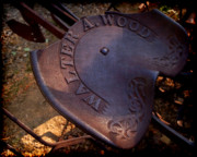 Dens Photos - Reservered Seating - Vintage Plow Seat by Steven Milner