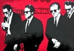 Tim Painting Metal Prints - Reservoir Dogs 2013 Metal Print by Luis Ludzska