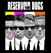 Tarantino Film Framed Prints - Reservoir Dogs pop art Framed Print by Paul Dunkel