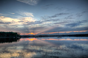 Manasquan Reservoir Prints - Reservoir Sunset Print by Michael Ver Sprill