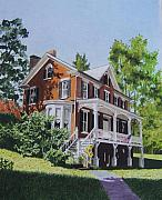 White House Mixed Media - Residence in Sussex County by Constance Drescher