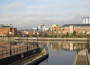 City Canal Prints - Residential buildings in Salford Quays Manchester Print by Kiril Stanchev