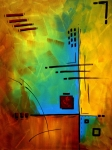 Handmade Paintings - Resonating by MADART by Megan Duncanson