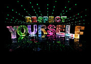 Name In Lights Art - Respect Yourself by Jill Bonner
