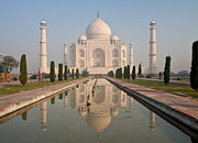 India Photos - Resplendent Taj Mahal by Mike Reid