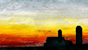 Sunset Scenes. Pastels Prints - Rest for the Hard Working Print by R Kyllo