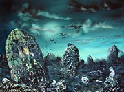 Burial Grounds Paintings - Rest in Peace by Jean Walker