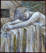 Egg Tempera Paintings - Rest by Mary jane Miller