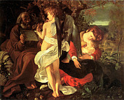 Middle Ages Digital Art - Rest on the Flight into Egypt by Caravaggio