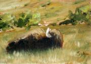 Great Western Painting Originals - Rest Stop by Scott Alcorn