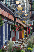 Champlain Photos - Restaurant Le Cochon Dingue in the Old Port of Quebec City by Juergen Roth