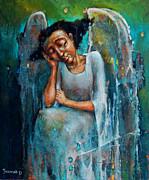 Resting Angel Print by Michal Kwarciak
