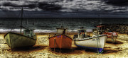 Overcast Art - Resting Boats by Erik Brede
