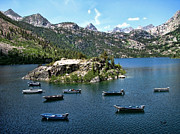 Boat Digital Art - Resting Boats On Lake Sabrina by Bedros Awak