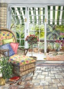 Sunporch Prints - Resting on the Lanai Part 1 Print by Carol Wisniewski
