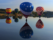 Prosser Balloon Rally Prints - Resting on the Water Print by Mike  Dawson