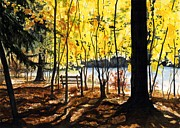 """fall Foliage"" Paintings - Resting Place by Barbara Jewell"