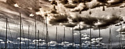 Grunge Art Prints - Resting Sailboats Print by Stylianos Kleanthous