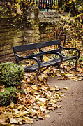 Park Benches Prints - Resting Spot Print by Heather Applegate