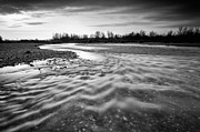 River. Clouds Prints - Restless river III Print by Davorin Mance