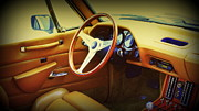 Whistles Posters - Restoration Of A Classic Car 1984 Avanti  Interior Poster by Rosemarie E Seppala