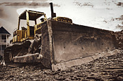 Bulldozers Framed Prints - Restore The Shore Framed Print by Gallery Three