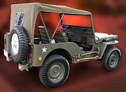 Sport Utility Vehicle Posters - Restored Jeep Poster by Thomas Woolworth