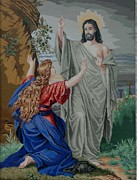 Christ Tapestries - Textiles Prints - Resurrection Print by Kalina Nikolova
