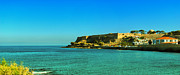 Port Town Photo Framed Prints - Rethymnon fort panorama 02 Framed Print by Antony McAulay