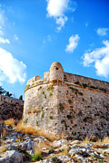 Port Town Prints - Rethymnon fort portrait Print by Antony McAulay