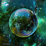 Spheres Posters - Reticulated Dream Orb Poster by Robin Moline