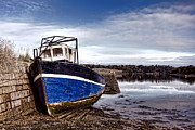Estuary Framed Prints - Retired Boat Framed Print by Olivier Le Queinec