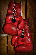 Boxer Prints - Retired Boxing Gloves Print by Paul Ward
