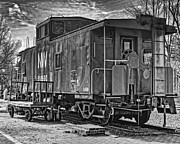 Rail Siding Posters - Retired Caboose Poster by Boyd Alexander