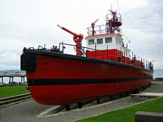Fireboat Photos - Retired fireboat in Tacoma by Rick Decorie